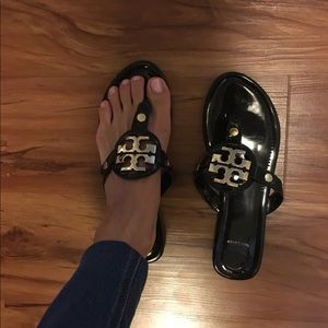 Tory burch miller sandals black